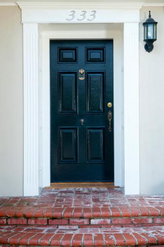Black Color「Entrance With Front Door」:スマホ壁紙(14)