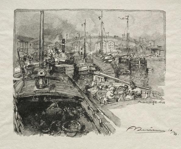 1900「Le Bassin De La Villette. Creator: Auguste Louis Lepère (French」:写真・画像(13)[壁紙.com]