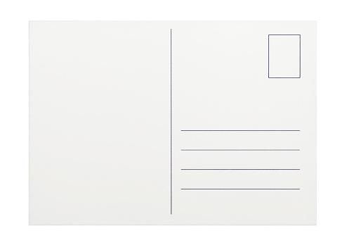 Postcard「Empty postcard on white background」:スマホ壁紙(3)