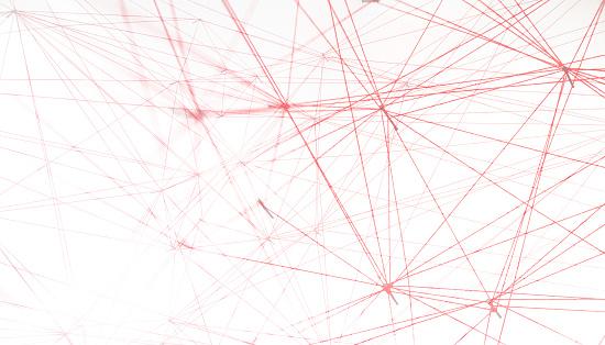 Teamwork「Networking, red threads on white background」:スマホ壁紙(1)