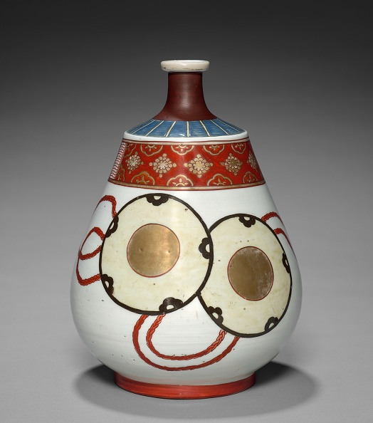 Ceramics「Bottle-Flask With Noh Theater Designs: Arita Ware」:写真・画像(5)[壁紙.com]