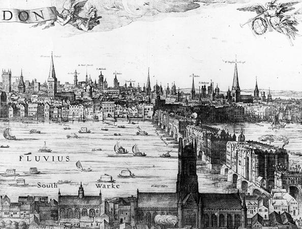17th Century「Old London Bridge」:写真・画像(1)[壁紙.com]