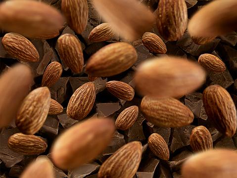Nut - Food「Almonds and chocolate」:スマホ壁紙(0)