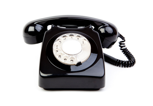 The Past「Black retro phone」:スマホ壁紙(19)