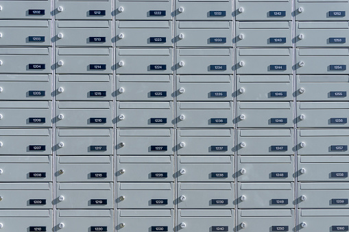 Number「Mail boxes, numbers」:スマホ壁紙(4)