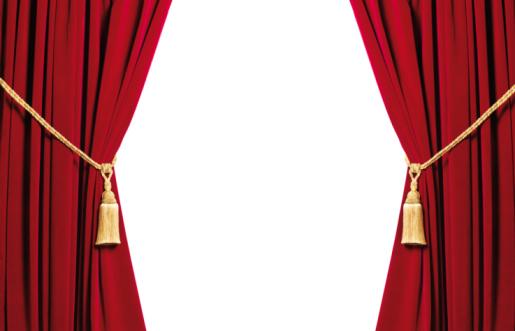 Velvet「Red velvet curtains with white copy space」:スマホ壁紙(9)