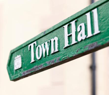 Single Word「Town Hall Arrow Sign」:スマホ壁紙(7)