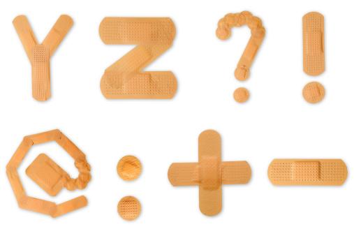 Cross Shape「Band aid alphabet (clipping paths)」:スマホ壁紙(19)