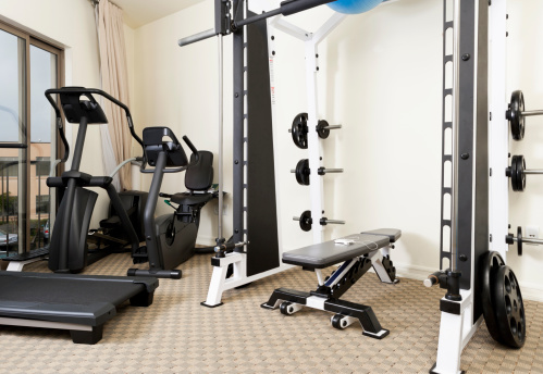 Exercise Room「Weights and exercise machines in gym」:スマホ壁紙(4)