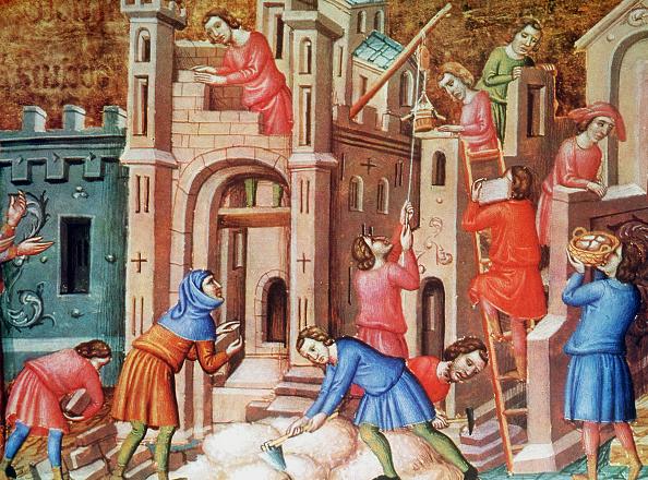 Medieval「Contruction Of A Church」:写真・画像(5)[壁紙.com]