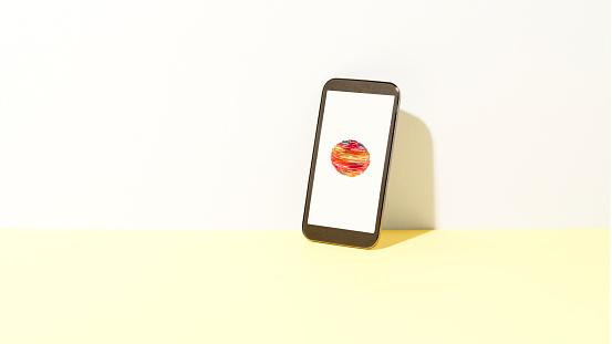 Mobile Phone「Data orb on smart phone」:スマホ壁紙(8)