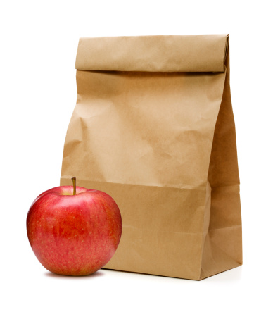 Apple - Fruit「Brown Paper Bag and apple」:スマホ壁紙(10)