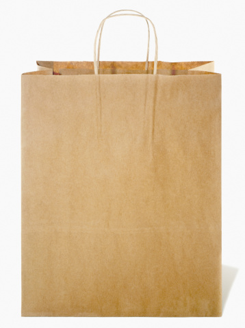 For Sale「brown paper shopping bag cut out on white」:スマホ壁紙(6)