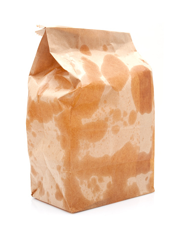 Unhealthy Eating「Brown Paper Bag isolated on white background」:スマホ壁紙(11)