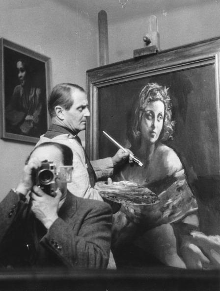 Austrian Culture「Austrian Painter Josef Dobrowsky. Photograph. 1955.」:写真・画像(17)[壁紙.com]