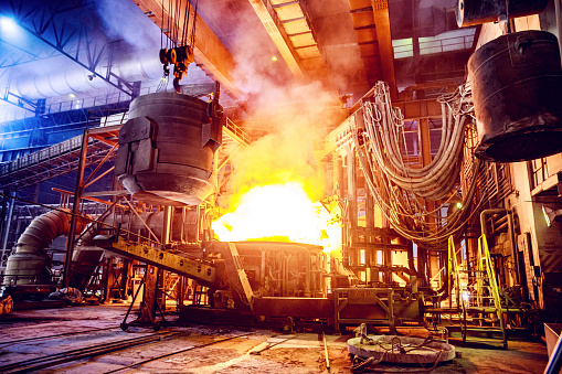 Molten「Scrap metal being poured into an Electric Arc Furnace at a Steel Factory」:スマホ壁紙(14)