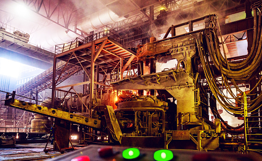 Mill「Scrap metal being poured into an Electric Arc Furnace at a Steel Factory」:スマホ壁紙(18)
