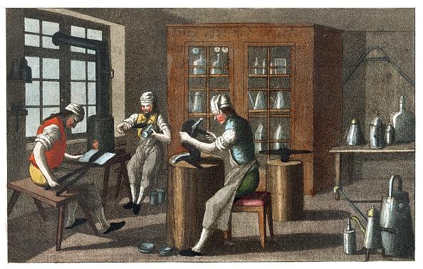 Illustration Technique「Professions: Plumber. From: Gallerie Der Vorzüglichsten Künste. Zürich  Leipzig. Colored Lithograph. 1820.」:写真・画像(12)[壁紙.com]