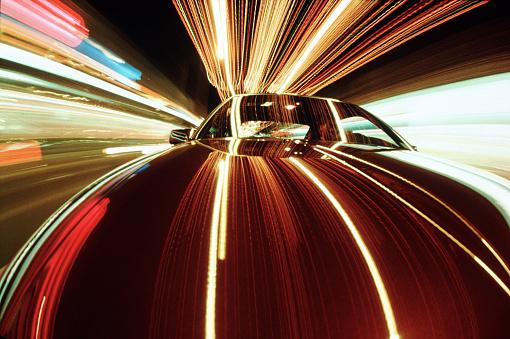 Light Trail「Car and light streaks」:スマホ壁紙(17)
