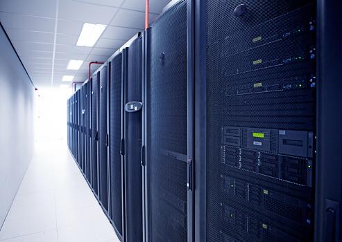 Data Center「Modern server room view」:スマホ壁紙(2)