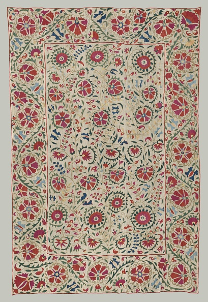 Bukhara「Suzani: Curtain Or Bed Cover」:写真・画像(8)[壁紙.com]