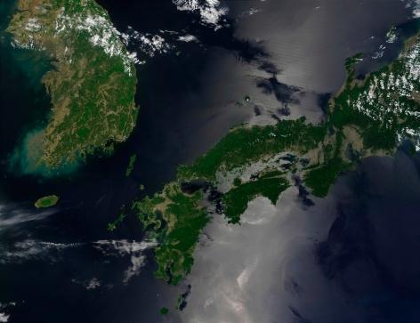 "Satellite View「""North and South Korea, satellite image""」:スマホ壁紙(18)"