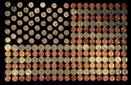 Inexpensive「Coins Forming US Flag」:スマホ壁紙(3)