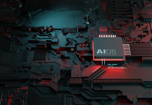 Deep Learning「Artificial Intelligence Chipset」:スマホ壁紙(2)