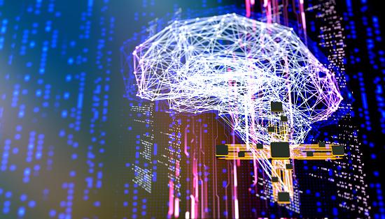 Neuroscience「AI Artificial Intelligence digital concept」:スマホ壁紙(18)