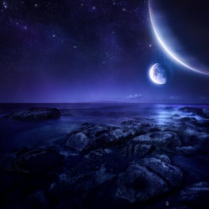 Supernova「Planets over sea」:スマホ壁紙(10)