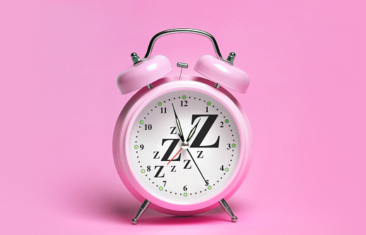 Colored Background「PINK ALARM CLOCK WITH ZZzzs」:スマホ壁紙(3)