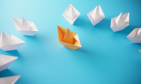 Opportunity「Leadership Concept With Paper Boats」:スマホ壁紙(11)