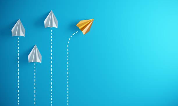 Leadership Concept With Paper Airplanes:スマホ壁紙(壁紙.com)