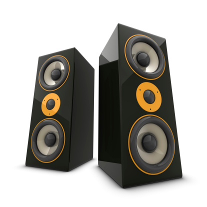 Audio Equipment「Two huge speakers」:スマホ壁紙(12)