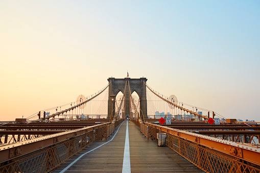 New York State「Brooklyn Bridge at sunrise.」:スマホ壁紙(3)