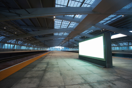 Railroad Track「billboard for advertisement in railway station」:スマホ壁紙(11)