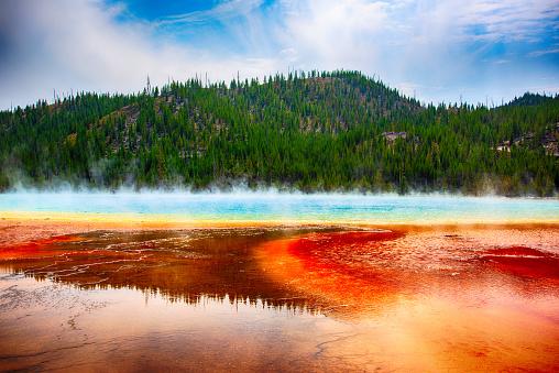 Volcanic Landscape「The Grand Prismatic Spring」:スマホ壁紙(12)