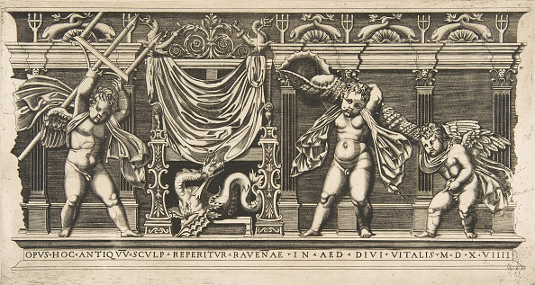 Animal Body Part「Three Cupids In Front Of A Facade With Pilasters」:写真・画像(9)[壁紙.com]