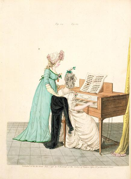 Regency Style「Ladies At The Piano」:写真・画像(1)[壁紙.com]