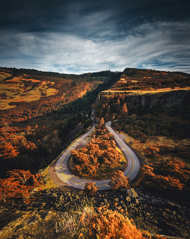 Hairpin Curve「rowena crest view point in oregon」:スマホ壁紙(3)