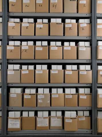 In A Row「Rows of boxes in storage room」:スマホ壁紙(4)