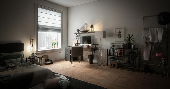 Twilight「Cozy and Messy Home Interior」:スマホ壁紙(9)