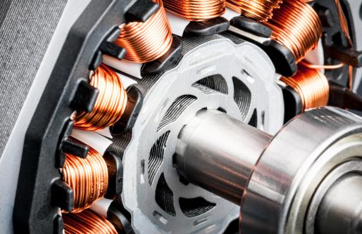 Electric Motor「Permanent magnet motor disassembled close-up」:スマホ壁紙(2)