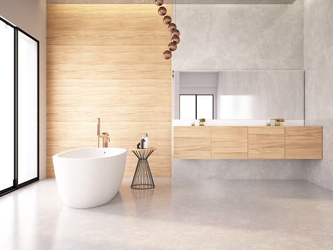 Tiled Floor「Modern Bathroom」:スマホ壁紙(18)