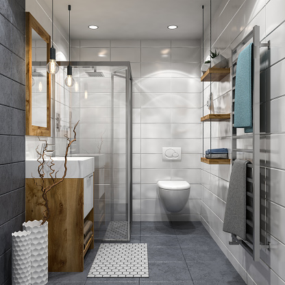 Branch - Plant Part「Modern bathroom」:スマホ壁紙(19)