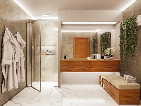 Public Restroom「Modern bathroom」:スマホ壁紙(9)