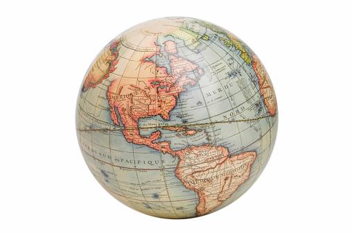 North America「Antique style globe」:スマホ壁紙(13)