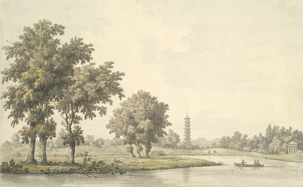 Recreational Pursuit「View Of The Lake And The Island From The Lawn At Kew」:写真・画像(19)[壁紙.com]