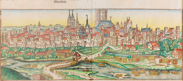 Renaissance「View Of The City Of Munich (From The Schedels Chronicle Of The World)」:写真・画像(5)[壁紙.com]