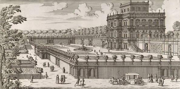 Flowerbed「View Of The Side Facade Of The Palazzo Pamphili And Its Garden (Secondo Prospetto Pe...」:写真・画像(10)[壁紙.com]